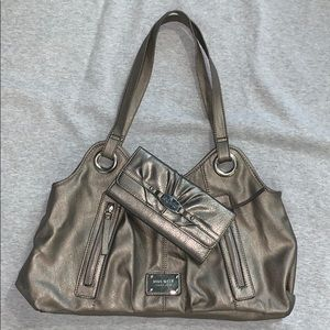 Nine West silver grey bag with matching wallet